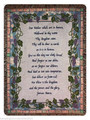 "THE LORD'S PRAYER TAPESTRY THROW - 50"" X 60"" THROW - GRAPEVINE BORDER"