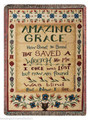 "AMAZING GRACE TAPESTRY THROW - 50"" X 60"" THROW BLANKET - SAMPLER"