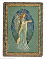 "CELTIC ANGEL TAPESTRY THROW BLANKET - 50"" x 60"" - IRISH - IRELAND"