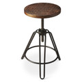 PADDINGTON SQUARE REVOLVING BAR STOOL - INDUSTRIAL LOOK FURNITURE - FREE SHIPPING*