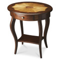 MARLBOROUGH INLAID OVAL SIDE TABLE - PLANTATION CHERRY FINISH - FREE SHIPPING*