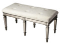 VERSAILLES MIRRORED VANITY BENCH - UPHOLSTERED BENCH - FREE SHIPPING*