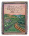 "EMERALD ISLE BLESSING TAPESTRY THROW - 50"" x 60"" - IRISH - CELTIC  - IRELAND"