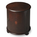 RUSHCLIFFE INLAID SIDE TABLE - ROUND DRUM TABLE - PLANTATION CHERRY FINISH - FREE SHIPPING*
