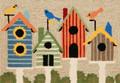 """HOME TWEET HOME BIRD HOUSE RUG - 30"""" x 48"""" - INDOOR OUTDOOR RUG"""