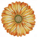 """SENSATIONAL SUNFLOWER"" RUG - 3' ROUND RUG - INDOOR OUTDOOR RUG"