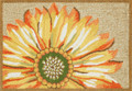 """SENSATIONAL SUNFLOWER"" RUG - 20"" x 30""  - NATURAL - SUNFLOWER INDOOR OUTDOOR RUG"