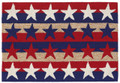 "PATRIOTIC STARS AND STRIPES RUG -  30"" x 48"" - INDOOR OUTDOOR RUG"