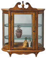 WESTBROOK WALL MOUNTED CURIO CABINET - VINTAGE OAK FINISH - FREE SHIPPING*