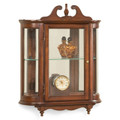 WESTBROOK WALL MOUNTED CURIO CABINET - CHERRY FINISH - FREE SHIPPING*