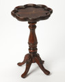 FAIRFIELD INLAID PIECRUST TABLE - PLANTATION CHERRY FINISH - FREE SHIPPING*