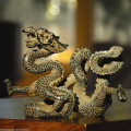 AUSPICIOUS DRAGON SCULPTURE - ASIAN DRAGON FIGURINE