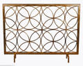 """CHATSWORTH"" DECORATIVE FIRE SCREEN - ANTIQUE GOLD - CIRCLES"