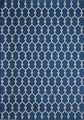 "MARRAKESH INDOOR OUTDOOR RUG - NAVY BLUE - GEOMETRIC DESIGN RUG - 3'11"" X 5'7"""