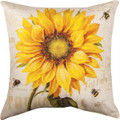 "PROVENCAL SUNFLOWER PILLOW - 18"" SQUARE - INDOOR OUTDOOR PILLOW"
