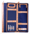 """GLASTONBURY"" TRAVEL TIE CASE - BLUE BALLISTIC NYLON"