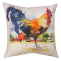"""COUNTRY ROOSTER PILLOW #3 - 18"""" SQUARE"""