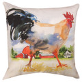 """COUNTRY ROOSTER PILLOW #4 - 18"""" SQUARE"""