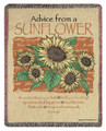 "ADVICE FROM A SUNFLOWER TAPESTRY THROW - 50"" X 60"" THROW BLANKET"