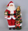 CHRISTMAS DECORATIONS - COUNTDOWN TO CHRISTMAS SANTA WITH LIGHTED CHRISTMAS TREE