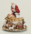 KNEELING SANTA AND BABY JESUS MUSICAL FIGURINE - MUSIC BOX