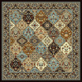 """TOPKAPI PALACE"" MULTI PANEL KIRMAN RUG - 8' SQUARE - ORIENTAL DESIGN RUG"