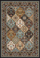 """TOPKAPI PALACE"" MULTII PANEL KIRMAN RUG - 4' X 5' - ORIENTAL DESIGN RUG"