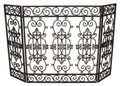 """FIREPLACE SCREENS - """"SAVOIE"""" DECORATIVE FIRE SCREEN - BURNISHED GOLD"""