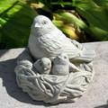 "FIGURINES - ""BIRDS NEST"" SCULPTURE - NATURAL STONE FINISH - GARDEN SCULPTURE"