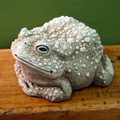 """""""FANCIFUL FROG"""" SCULPTURE - AGED STONE FINISH - GARDEN SCULPTURE"""