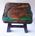 FANCIFUL FROG FOOTSTOOL