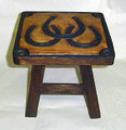 """INTERLOCKING HORSESHOE"" EQUESTRIAN FOOTSTOOL"