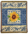 """COSTA DEL SOL"" SUNFLOWER TAPESTRY THROW BLANKET - 50"" X 60"""