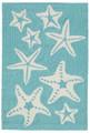 """SENSATIONAL STARFISH RUG - AQUA - INDOOR OUTDOOR RUG - 20"""" x 30"""""""