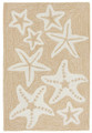 """SENSATIONAL STARFISH"" INDOOR OUTDOOR RUG - NATURAL - 24"" x 36"""