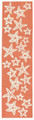 """SENSATIONAL STARFISH"" INDOOR OUTDOOR RUG - CORAL - 2' x 8' RUNNER"