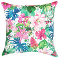 """TROPICAL PARADISE"" FLORAL PILLOW - 18"" SQUARE - INDOOR OUTDOOR PILLOW"
