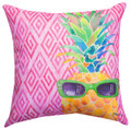 """""""50 SHADES OF COOL"""" PINEAPPLE PILLOW - 18"""" SQUARE - INDOOR OUTDOOR PILLOW"""