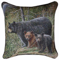"""BEAR MOUNTAIN"" TAPESTRY PILLOW"