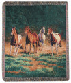 """WILD HORSES"" TAPESTRY THROW BLANKET - 50"" x 60"" - HORSE - EQUESTRIAN"