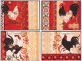 """FRENCH COUNTRY ROOSTER"" TAPESTRY PLACEMATS - SET OF FOUR - PLACE MATS"
