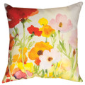"""POPPY FIELD"" PILLOW - 18"" SQUARE - INDOOR OUTDOOR FLORAL PILLOW"