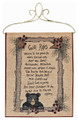 """BEAR LODGE"" TAPESTRY WALL HANGING - 13"" X 18"" - CABIN RULES"
