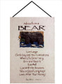 ADVICE FROM A BEAR WALL HANGING - LODGE DECOR