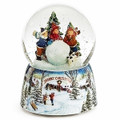 """SNOW DAY FUN"" MUSICAL SNOW GLOBE - CHILDREN AND GIANT SNOWBALL"