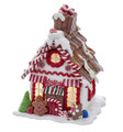 CHRISTMAS DECORATIONS - LED LIGHTED GINGERBREAD HOUSE WITH COOKIE TREATS