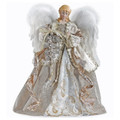 ANGEL CHRISTMAS TREE TOPPER WITH CHAMPAGNE GOWN