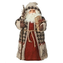woodland santa christmas tree topper 14h - Santa Christmas Tree Topper