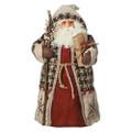 "WOODLAND SANTA CHRISTMAS TREE TOPPER - 14""H"