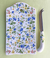 SERVING TRAYS - SPRING TIME FLORAL CHEESE TRAY & KNIFE SET - CUTTING BOARD